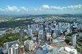 Auckland aerial view looking south east to mt eden new zealand december city panorama aotea square and in the distance mount and Royalty Free Stock Photos