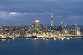 Auckland city skyline in the evening Royalty Free Stock Image
