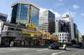 Auckland cityscape nz may traffic on victoria street west on may it s the largest and most populous urban area in nz and it has Royalty Free Stock Image