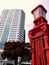 Auckland: harbour gate and new building Royalty Free Stock Photo