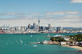 Auckland skyline new zealand view from devonport Royalty Free Stock Photos