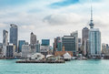 Auckland view at the noon skyline of with city central business district Stock Photo