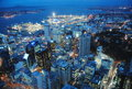 Auckland view from the sky tower new zealand Stock Photos