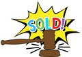 Auction gavel Sold cartoon icon Royalty Free Stock Photo