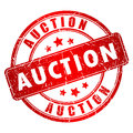 Auction vector stamp Royalty Free Stock Photo