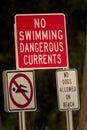 Aucun signe de natation Images stock