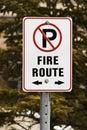 Aucun signe de stationnement Image libre de droits