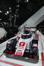 Audi r e tron quattro hybrid le mans race car guangzhou china november was exhibited in the th china guangzhou international Royalty Free Stock Photos