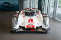 Audi r le mans car in showroom for exhibition Royalty Free Stock Image