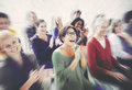 Audience Applaud Clapping Happines Appreciation Training Concept Royalty Free Stock Photo