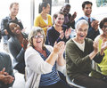 Audience Applaud Clapping Happiness Appreciation Training Concept Royalty Free Stock Photo