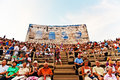 Audience in the arena di verona italy august people are waiting for start of opera of august Stock Photos