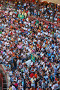 The audience of the bullfighting area in spain Royalty Free Stock Photo