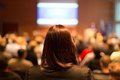 Audience at the conference hall. Royalty Free Stock Photo