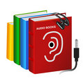 Audio books Stock Image