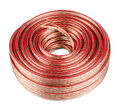 Audio cable copper on white background Royalty Free Stock Images