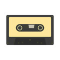Audio cassette icon. Retro music gadget from 21-st century. Old Royalty Free Stock Photo