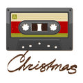 Audio cassette tape. Christmas Stock Image