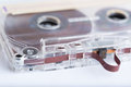 Audio cassette tape close up Stock Photo