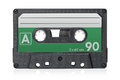 Audio cassette tape single isolated on a white background Royalty Free Stock Photography