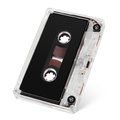 Audio cassette tape on white Stock Photography