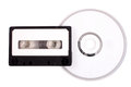 Audio cassette to compact disk Royalty Free Stock Photo