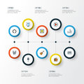 Audio Colorful Outline Icons Set. Collection Of Loudspeakers, Play, Headphones And Other Elements. Also Includes Symbols