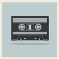 Audio  Compact Cassette Tape on Retro Background Royalty Free Stock Photo