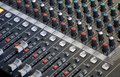 Audio console effect controls Royalty Free Stock Photo