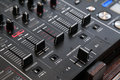 Audio cross fader professional line mixer with and selective focus Stock Images