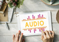 Audio Digital Equalizer Music Tunes Sound Wave Graphic Concept Royalty Free Stock Photo