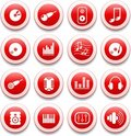 Audio icons Royalty Free Stock Photography