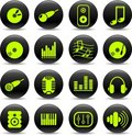 Audio icons Royalty Free Stock Photo