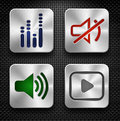Audio icons set Royalty Free Stock Photo