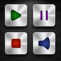 Audio icons set Stock Photography