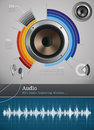 Audio icons and symbols sound for infographics Royalty Free Stock Photography