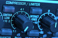 Audio limiter compressor Stock Photo
