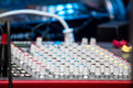 Audio mixer detail Royalty Free Stock Image