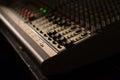 Audio mixer fader Royalty Free Stock Photo