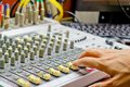 Audio mixer. Royalty Free Stock Photo