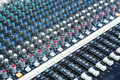 Audio mixing table Royalty Free Stock Photo