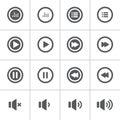 Y música audaz icono plano diseño icono