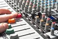 Audio sound mixer Stock Image