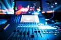 Audio sound mixer Royalty Free Stock Photo