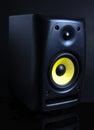 Audio speaker on black background Royalty Free Stock Photo