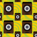 Audio speaker seamless background design a for graphic element use Stock Photography