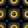 Audio speaker seamless pattern cone detail photo Royalty Free Stock Image
