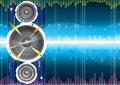 Audio speaker wave Royalty Free Stock Photo