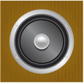 Audio speaker in wood Stock Photo