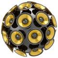 Audio speakers sphere